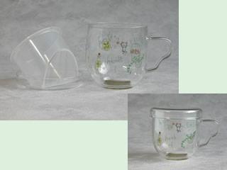 フィルター付きガラスマグカップ(Herb & Bear)